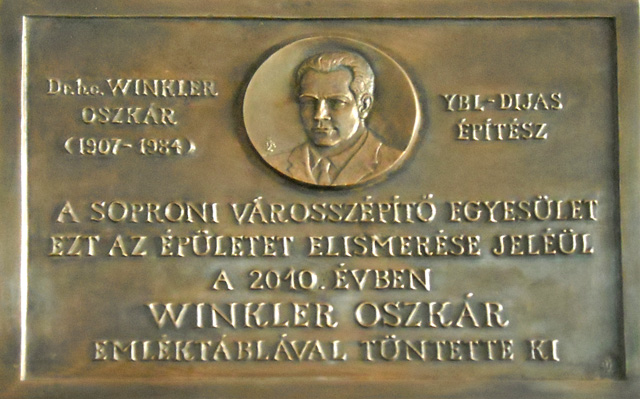 A 2010-es Winkler Emléktábla